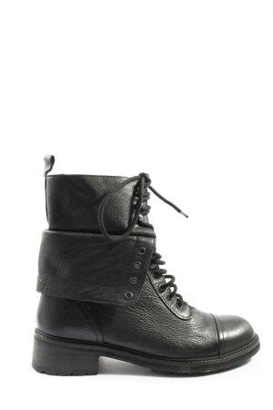 Zara Trafaluc Bottines à lacets noir style décontracté