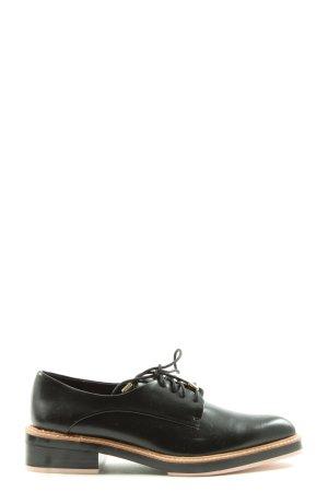 Zara Trafaluc Veterschoenen zwart zakelijke stijl