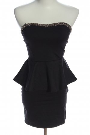 Zara Trafaluc Peplum Dress black casual look