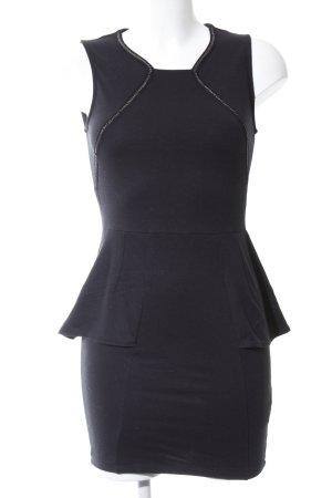 Zara Trafaluc Vestido peplum negro-color plata look casual