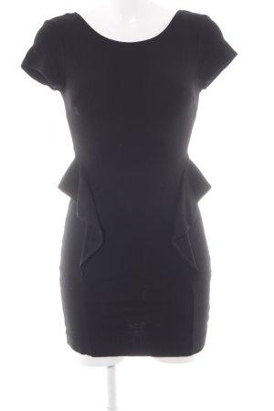 Zara Trafaluc Schößchenkleid schwarz Elegant
