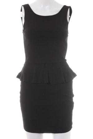 Zara Trafaluc Sukienka z baskinką czarny Imprezowy wygląd