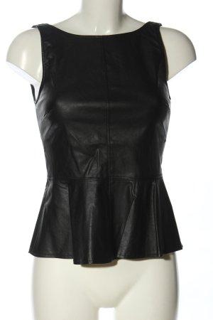 Zara Trafaluc Top z baskinką czarny W stylu casual