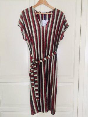 Zara Trafaluc Vestido estilo camisa multicolor