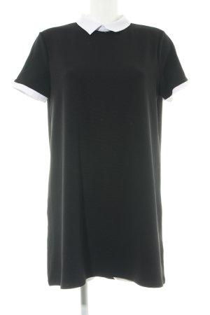 Zara Trafaluc Shirtkleid schwarz-weiß Business-Look