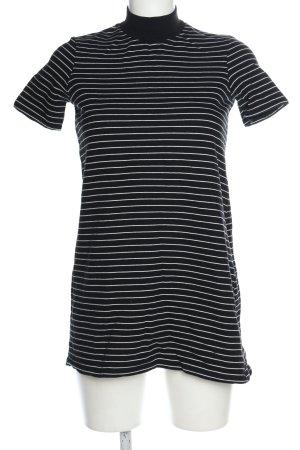 Zara Trafaluc Shirtkleid schwarz-weiß Streifenmuster Casual-Look