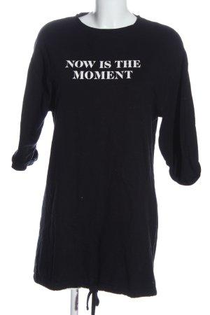 Zara Trafaluc Shirtkleid schwarz Schriftzug gedruckt Casual-Look