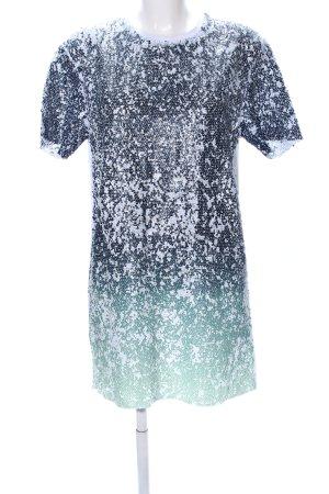 Zara Trafaluc Shirt Dress allover print wet-look