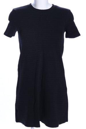 Zara Trafaluc Shirtkleid schwarz Webmuster Casual-Look