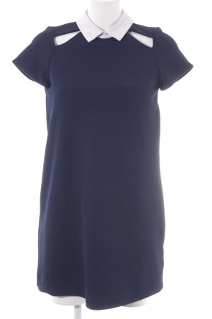 Zara Trafaluc Shirtkleid dunkelblau-weiß Casual-Look