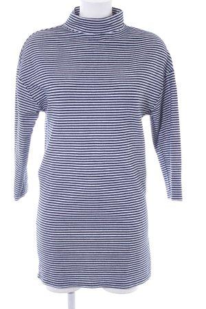 Zara Trafaluc Shirtkleid dunkelblau-weiß Streifenmuster Casual-Look