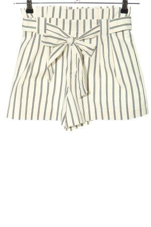 Zara Trafaluc Shorts weiß-schwarz Streifenmuster Casual-Look