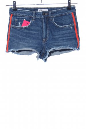 Zara Trafaluc Shorts blau-rot Casual-Look