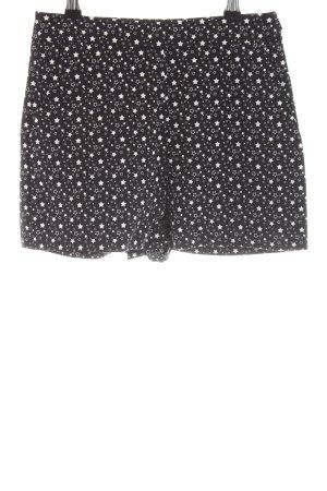 Zara Trafaluc Shorts schwarz-weiß Allover-Druck Casual-Look