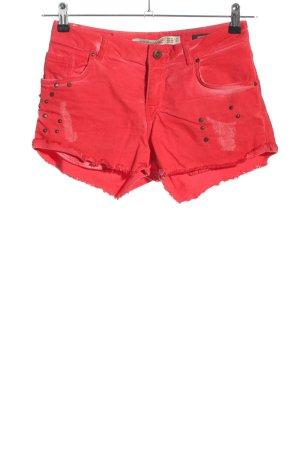Zara Trafaluc Shorts rot Casual-Look