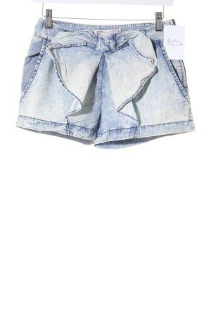 Zara Trafaluc Shorts creme-hellblau Used-Optik