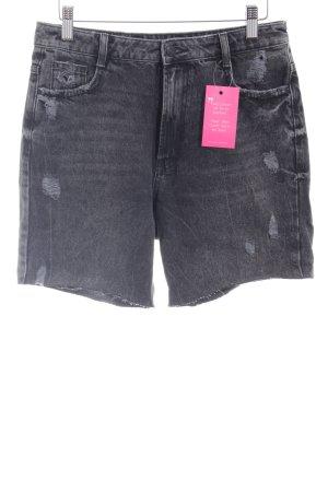 Zara Trafaluc Shorts dunkelgrau Used-Optik