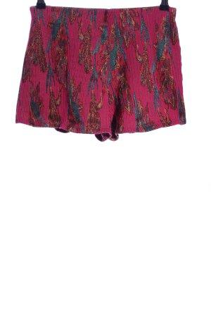 Zara Trafaluc Shorts rot-blau Allover-Druck Casual-Look