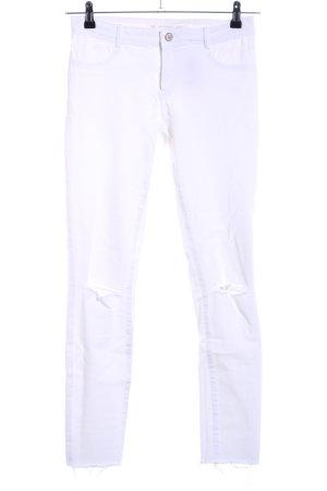 Zara Trafaluc Skinny Jeans weiß Casual-Look