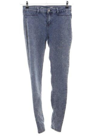 Zara Trafaluc Skinny Jeans blue-light grey flecked casual look