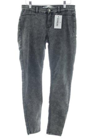 Zara Trafaluc Skinny Jeans dunkelgrau Washed-Optik