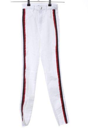 Zara Trafaluc Vaquero skinny rojo-blanco look casual