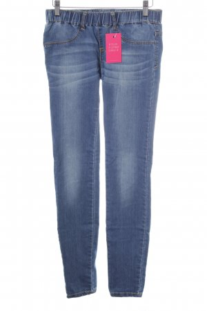 Zara Trafaluc Skinny Jeans stahlblau Casual-Look