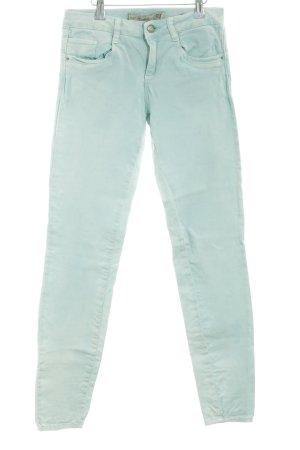Zara Trafaluc Skinny Jeans türkis Casual-Look