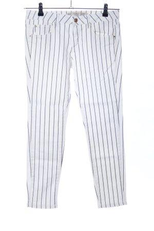 Zara Trafaluc Skinny Jeans weiß-schwarz Streifenmuster Casual-Look