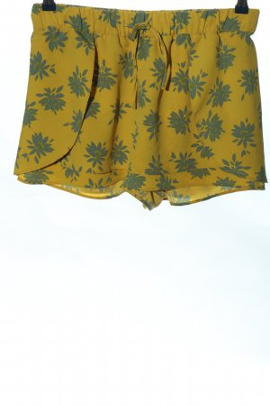 Zara Trafaluc Skort jaune primevère-bleu imprimé allover style décontracté