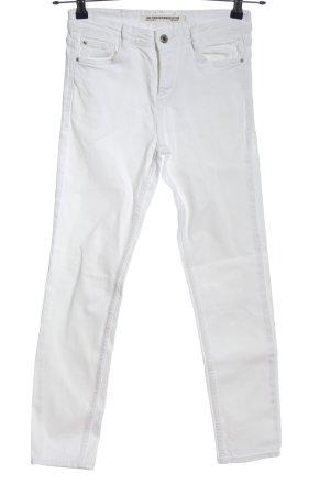 Zara Trafaluc Slim Jeans weiß Casual-Look