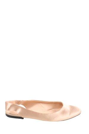 Zara Trafaluc Slingback Ballerinas natural white casual look