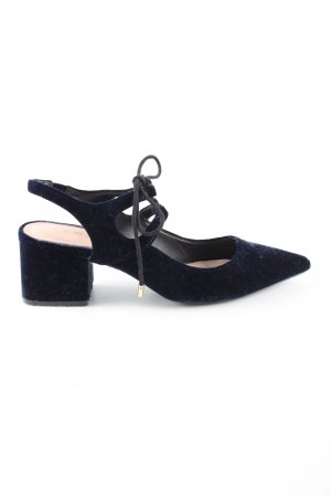 Zara Trafaluc Slingback Pumps blue business style