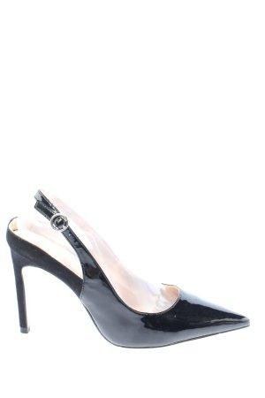 Zara Trafaluc Czółenka z paskiem za piętą czarny W stylu biznesowym