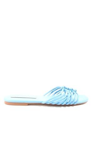 Zara Trafaluc Sabots blau Casual-Look
