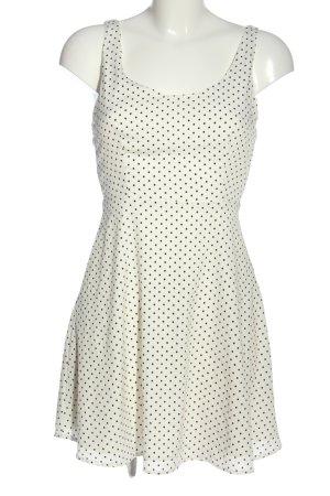 Zara Trafaluc Sommerkleid weiß-schwarz Punktemuster Casual-Look