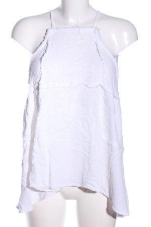 Zara Trafaluc Spaghettibandtopje wit casual uitstraling