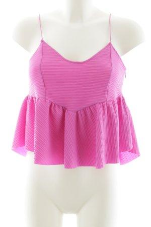 Zara Trafaluc Spaghettiträger Top pink Streifenmuster Casual-Look