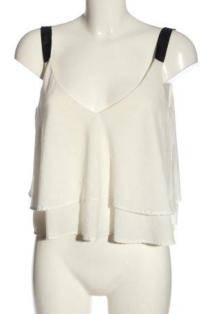 Zara Trafaluc Haut à fines bretelles blanc cassé élégant