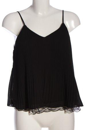 Zara Trafaluc Top de tirantes finos negro look casual