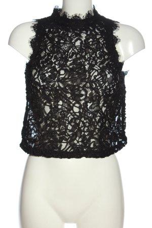 Zara Trafaluc Koronkowa bluzka czarny W stylu casual