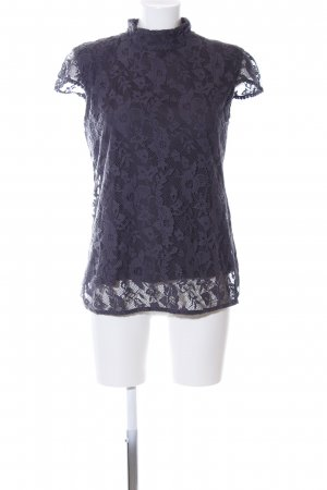 Zara Trafaluc Lace Blouse blue business style