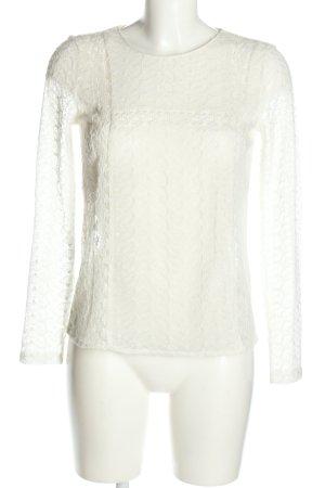 Zara Trafaluc Spitzenbluse weiß Elegant