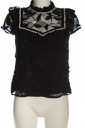 Zara Trafaluc Lace Blouse black casual look