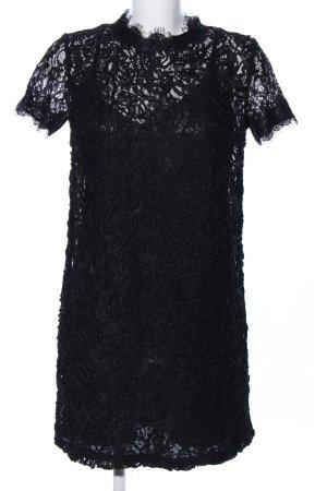 Zara Trafaluc Vestido de encaje negro elegante