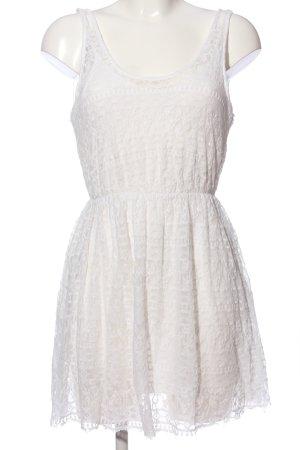 Zara Trafaluc Lace Dress white casual look