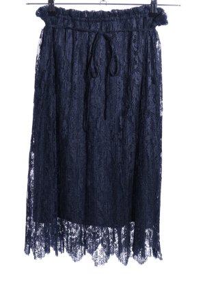 Zara Trafaluc Falda de encaje azul elegante