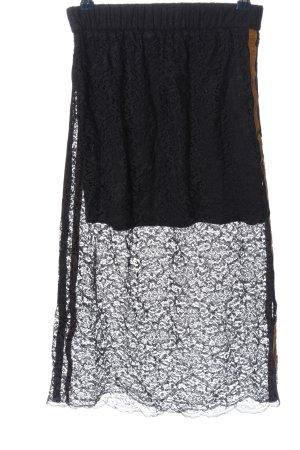 Zara Trafaluc Lace Skirt black-white casual look