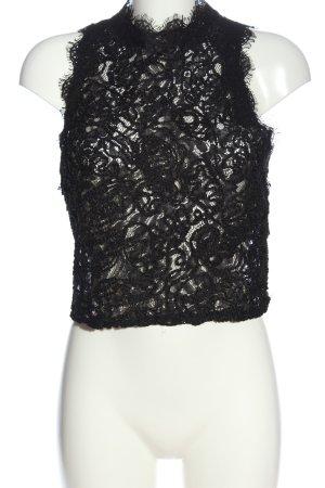 Zara Trafaluc Lace Top black casual look