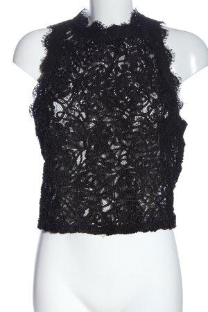 Zara Trafaluc Top de encaje negro elegante